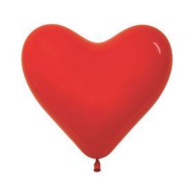 """Шар латексный 6"""", сердце, пастель, набор 100 шт., цвет красный"""