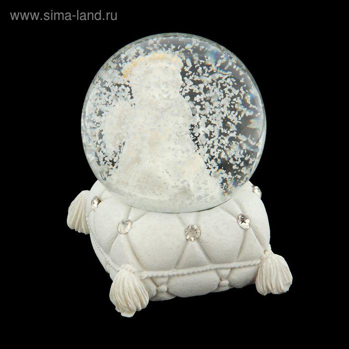 """Сувенир водяной шар """"Ангелочек на подушке"""""""