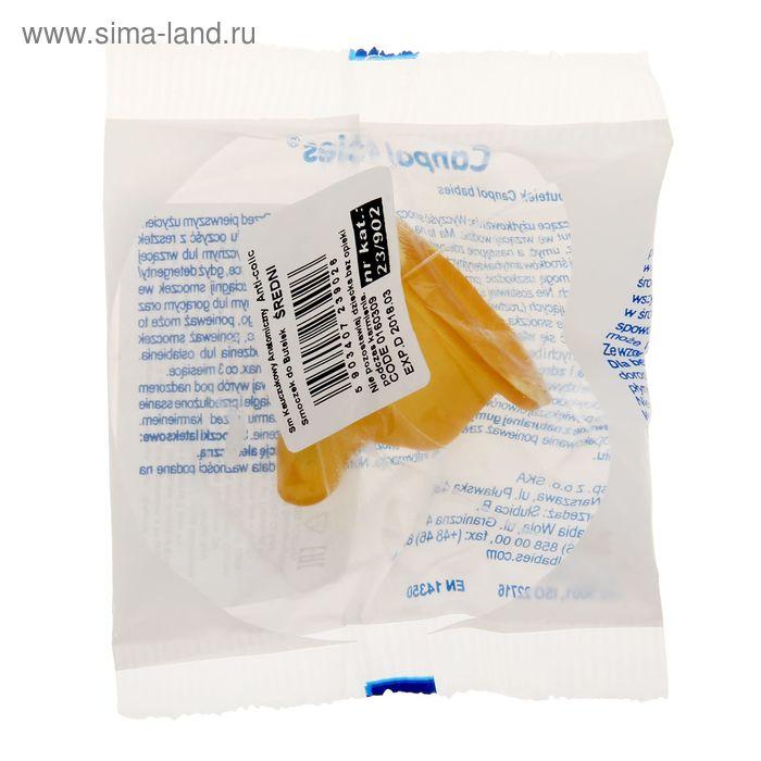 Соска латексная ортодонтическая со средним потоком, от 6 мес.