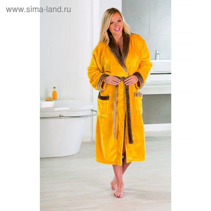 Халат GOEZZE Seiden-Feeling, размер L (48) цвет желтый