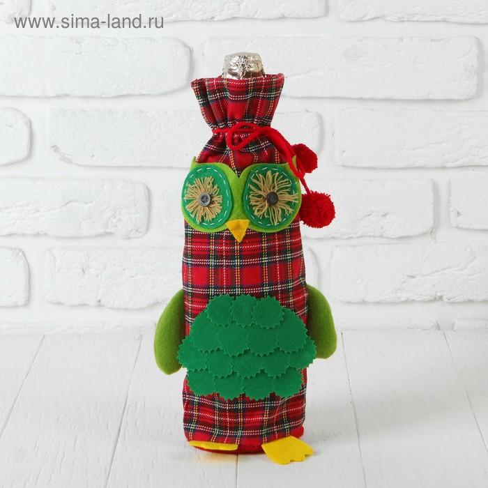 "Одежда на бутылку ""Совушка"" с лапками, цвета МИКС"