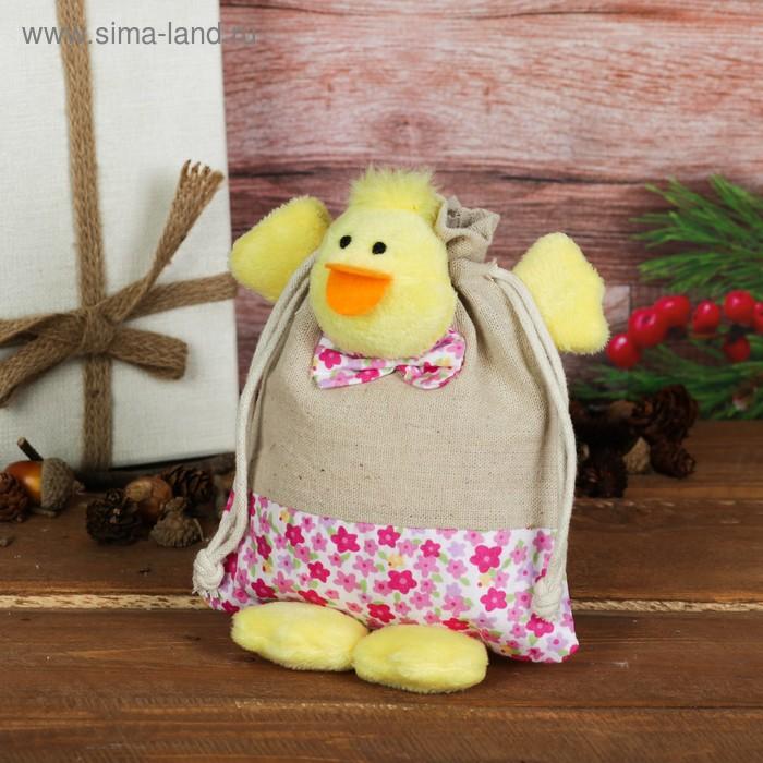 """Мешок для подарков """"Цыплёнок"""" с ножками и завязками, 150 г, цвета МИКС"""