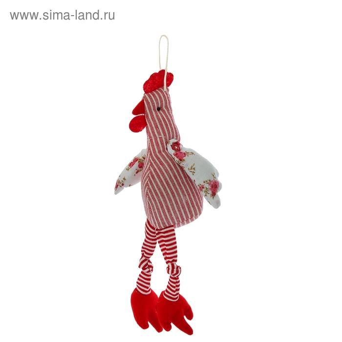 """Мягкая игрушка """"Петушок"""" с ножками, крылья в цветочек, цвета МИКС"""