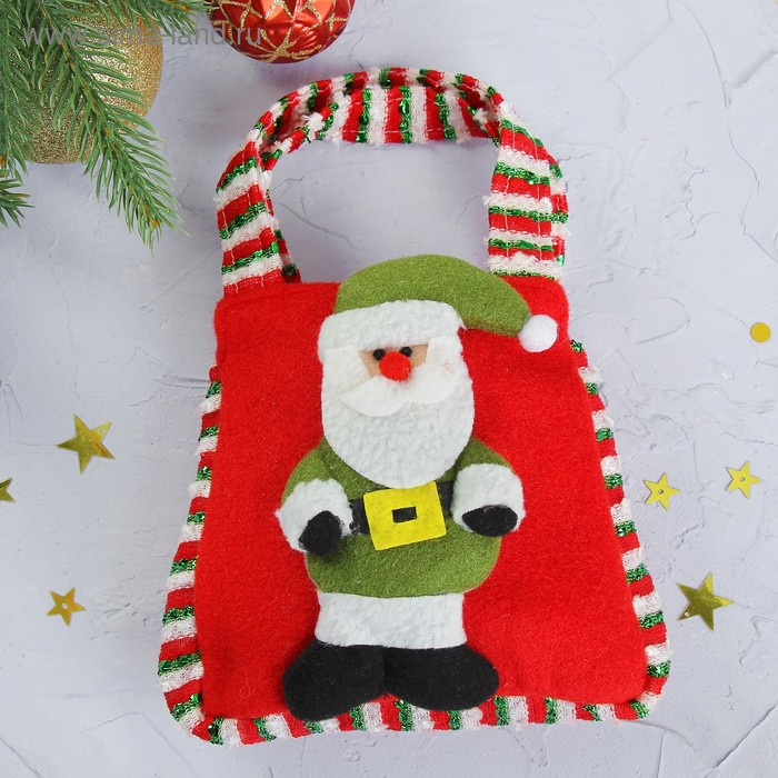 "Подарочная сумка ""Дед Мороз"", цвета МИКС"