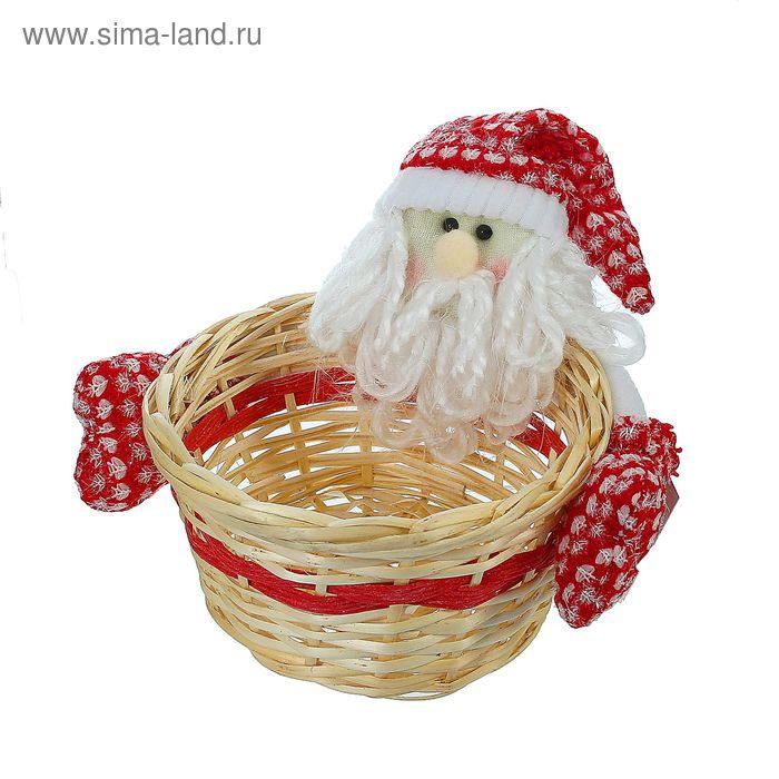 "Конфетница ""Дед мороз"" с варежками, вместимость 500 грамм"
