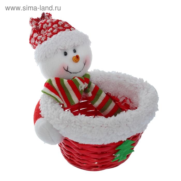 """Конфетница """"Снеговик в шапочке"""", 100 г"""