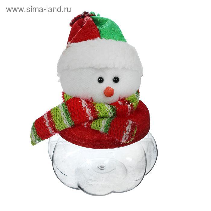 """Конфетница """"Снеговик в шарфе"""", 100 г"""