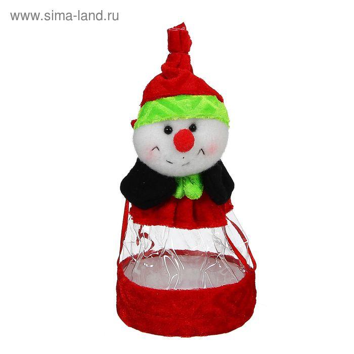 """Конфетница """"Снеговик,красный нос"""", 150 г"""