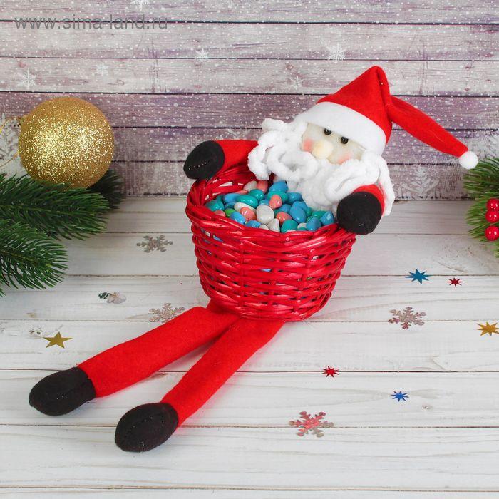 """Конфетница """"Дед Мороз"""" длинные ножки, вместимость 250 грамм"""