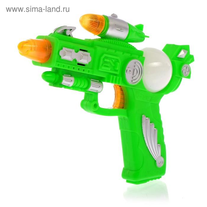 """Пистолет """"Бластер"""", световые и звуковые эффекты, работает от батареек, цвета МИКС"""