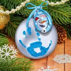 """Новогодний шар """"Отпечаток детской ручки"""", Холодное сердце"""