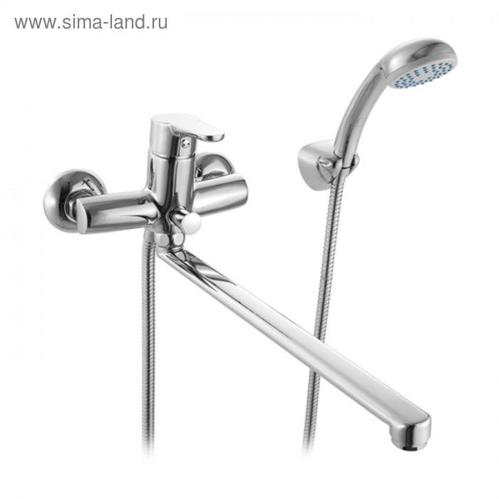 Смеситель для ванны с длинным изливом, Flores, Milardo, FLOSBL0M02