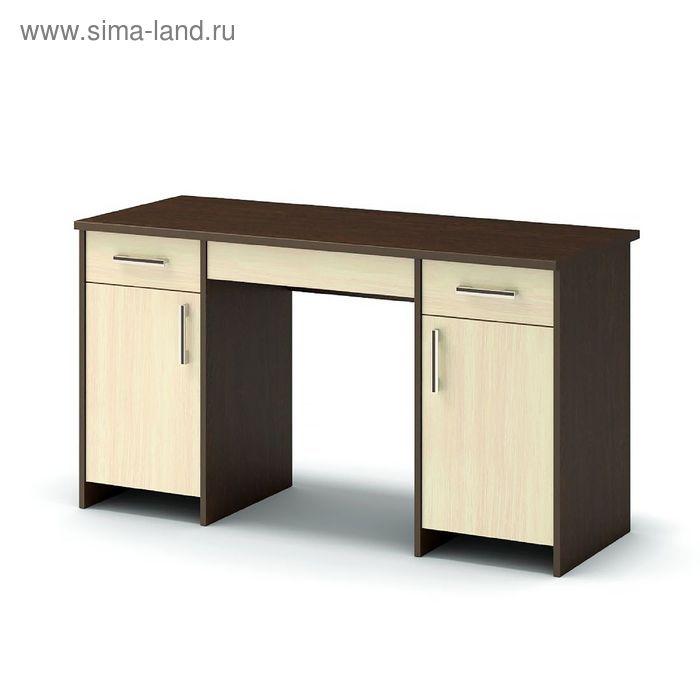 Стол письменный СП-3/2 1330х572х740 венге/дуб млечный