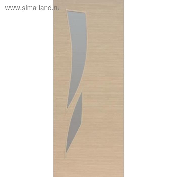 Дверное полотно остекленное Стрелиция, Беленый дуб 2000х700