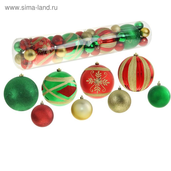 """Новогодние шары """"Мега"""" цветные (набор 34 шт.)"""