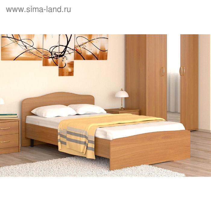 Кровать 120 с орт.основанием   Фея   1252х760х2032    вишня