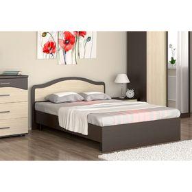 Кровать 160 с орт.основанием  Лиана   1700х862х2032    венге/ дуб млечный