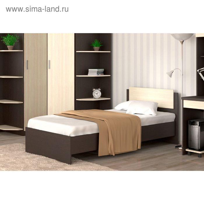Кровать 90  Танго  с накл. 950х812х2032    венге/ дуб млечный