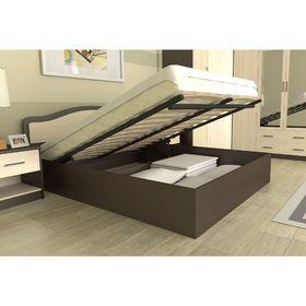 Кровать 140  Лиана  ПМ  1500x862x2052    венге/дуб млечный