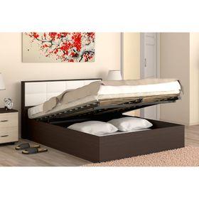 Кровать 140  Сонет  ПМ  1485x906x2136    венге/кож.зам.
