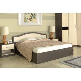 Кровать 160  Лиана  ПМ  1700x862x2052    венге/дуб млечный