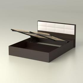 Кровать 160  Сонет  ПМ  1685x906x2136    венге/кож.зам.
