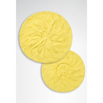 Шапка для девочек, размер 56-58, цвет желтый GQ1007