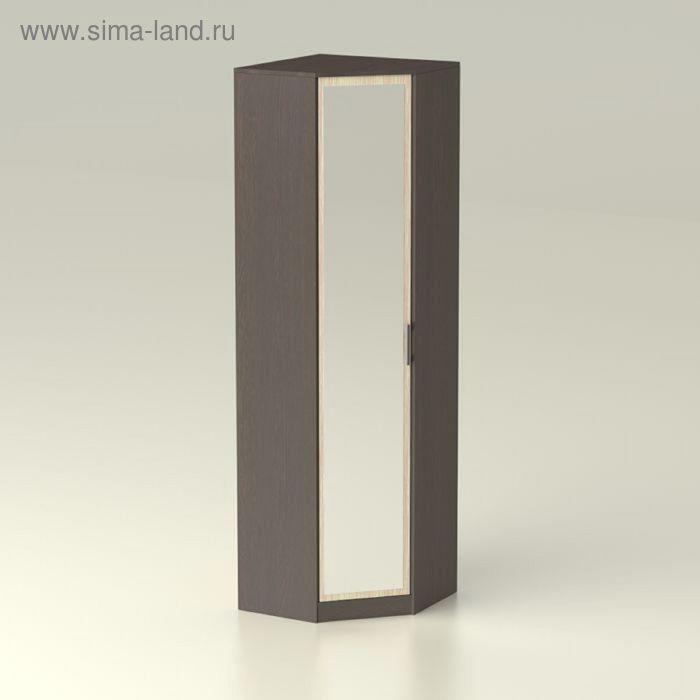 Шкаф угловой с зеркалом Модуль 661х661х2016     венге/дуб мл.