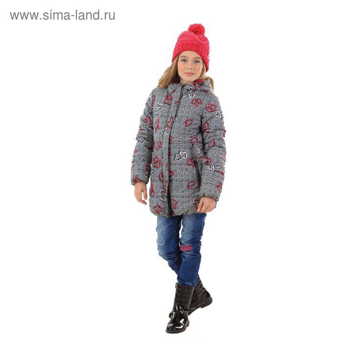 Куртка для девочек, 11 лет, цвет  серый GZWL4006