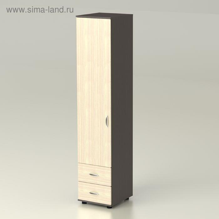 Шкаф  Сонет  1 2 474х522х2300  венге/дуб млечный
