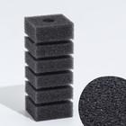 Губка прямоугольная запасная для фильтра турбо №1, 11,2х4х4,5 см