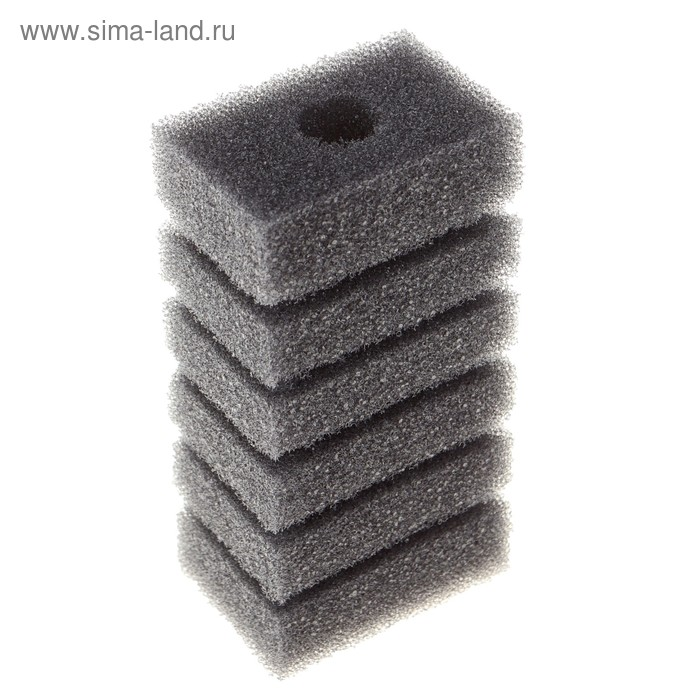 Губка прямоугольная запасная для фильтра турбо №2, 11,2х6х4 см