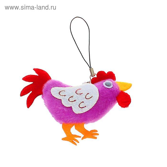 """Мягкая игрушка - подвеска """"Петух"""" красный гребешок, цвета МИКС"""