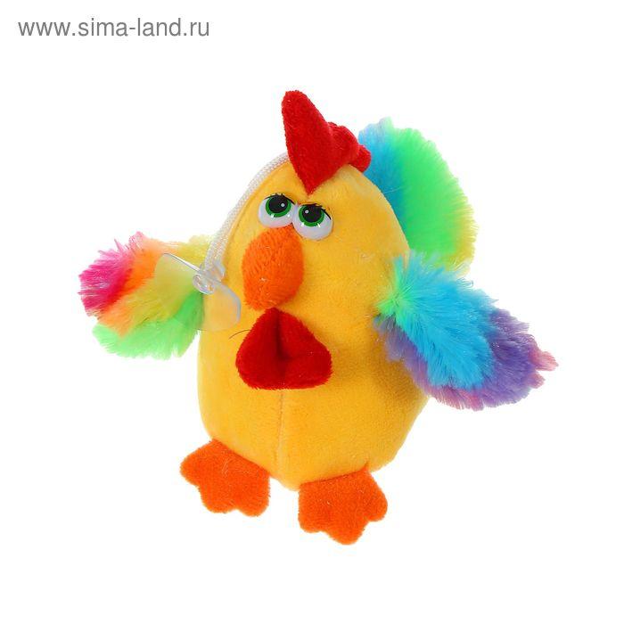 """Мягкая игрушка-присоска """"Петух-глазастик"""", радужные крылья"""
