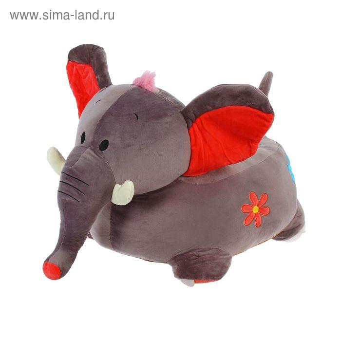 """Мягкая игрушка-кресло """"Слонёнок"""", пушок на голове"""