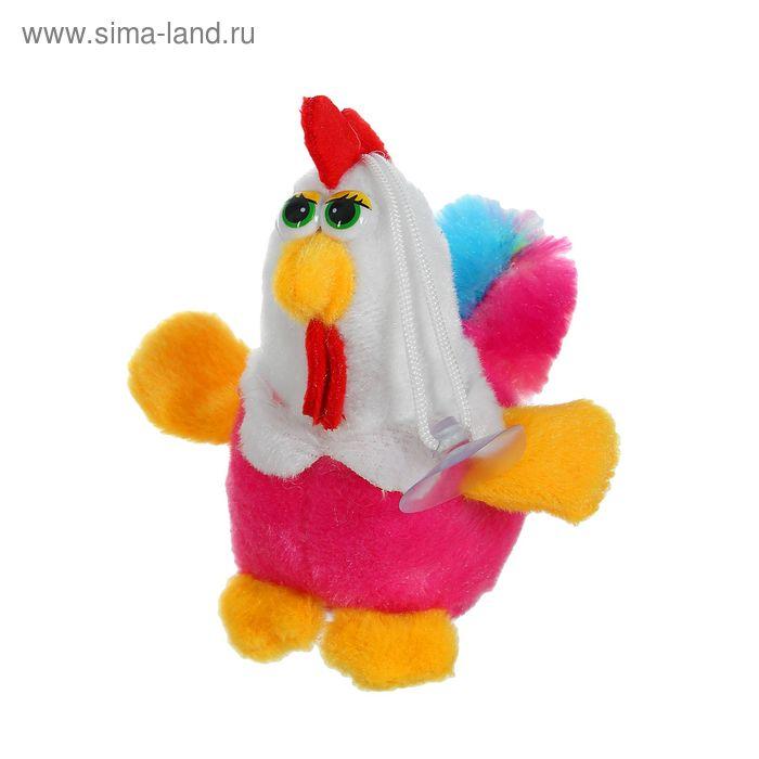 """Мягкая игрушка-присоска """"Петух"""", большие глазки и пушистый хвост, цвета МИКС"""