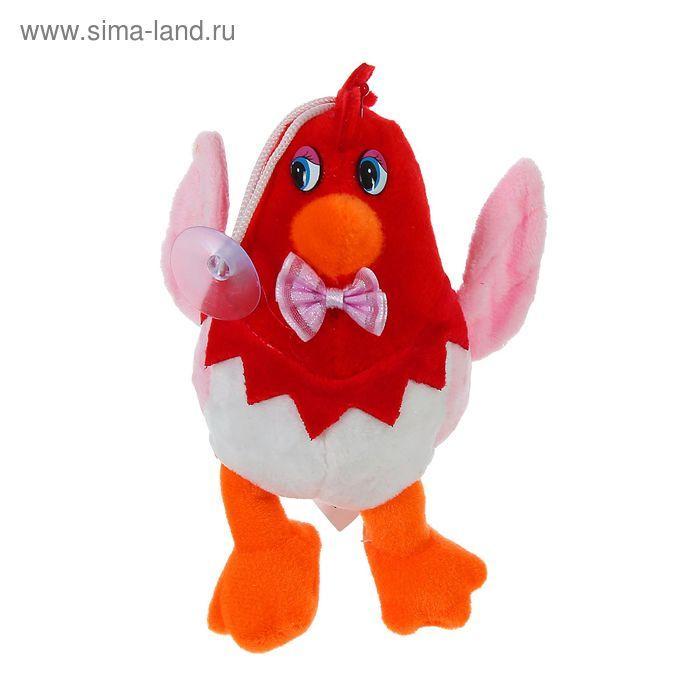 """Мягкая игрушка-присоска """"Цыплёнок с бантиком"""" на ножках , цвета МИКС"""