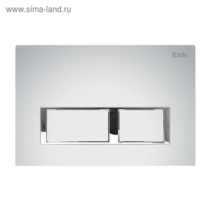 Клавиша смыва IDDIS Unifix, UNI60M0i77, универсальная, цвет матовый хром