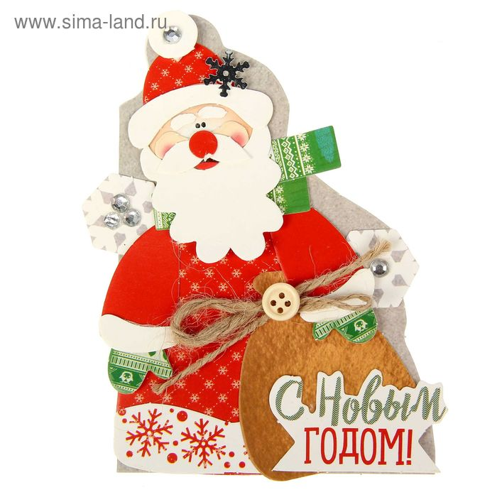 """Набор для создания формовой открытки хэнд-мэйд """"Дед Мороз"""""""