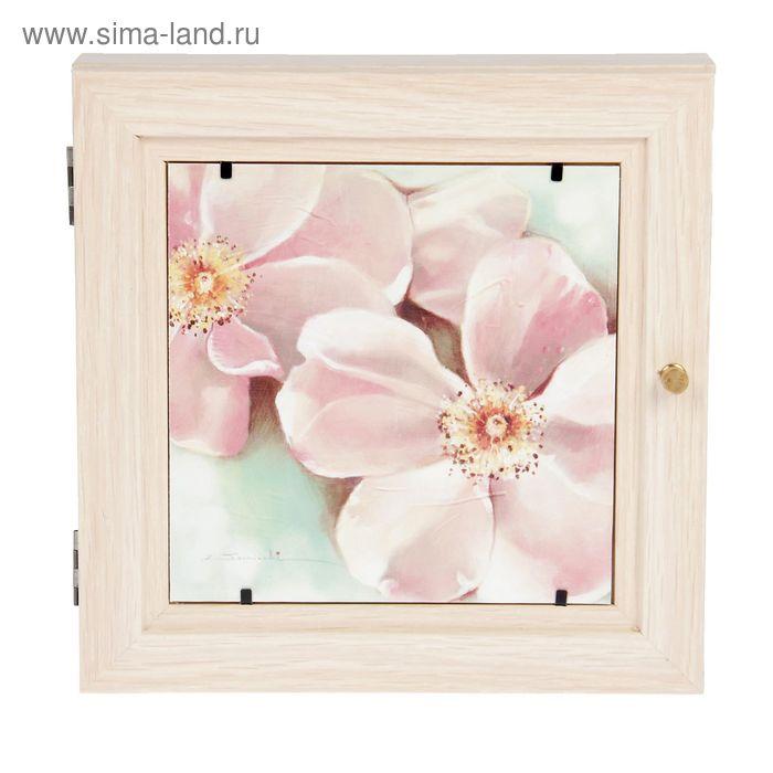 """Ключница """"Розовые цветы"""" 30х30 см"""