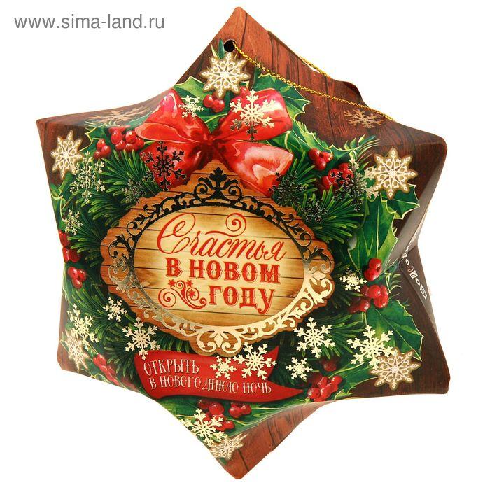 "Полотенце махровое Collorista ""Новогодняя звезда"" 30 х 30 см, 100% хлопок 410 гр/м2"
