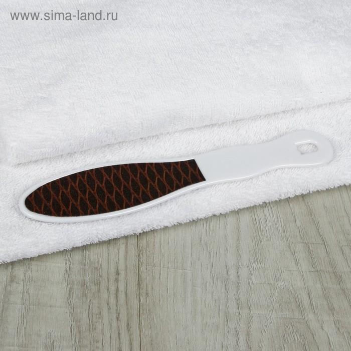 "Тёрка для ног двухсторонняя ""Овал"", цвет коричнево-белый"