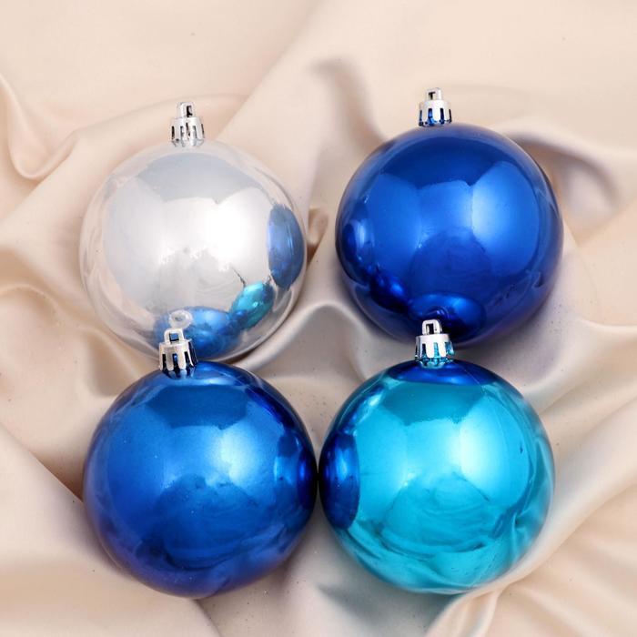 """Новогодние шары """"Холодный глянец"""" (набор 12 шт.)"""