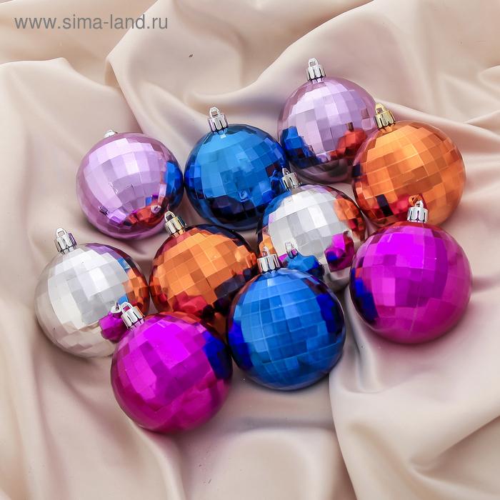 """Новогодние шары """"Рельеф"""" (набор 50 шт.)"""