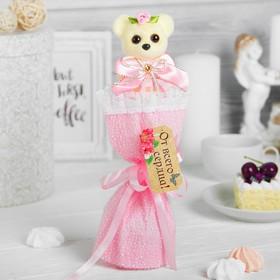 Букет с мишкой 'Только для тебя', цвет розовый Ош