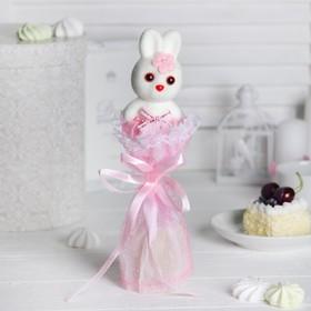 Букет с зайчиком 'Только для тебя', цвет розовый Ош