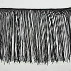 "Тесьма декоративная ""Бахрома"", ширина 30см, длина 5±1м, цвет чёрный"