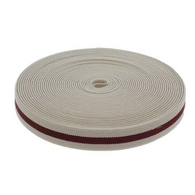 Резинка, ширина 20мм, 10±1м, цвет бело-бордовой