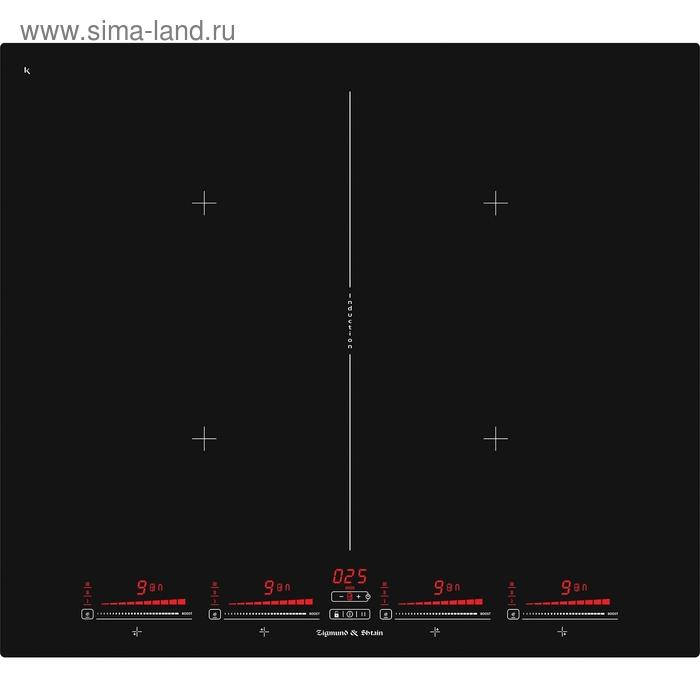 Варочная поверхность Zigmund & Shtain CIS 321.60 BX, электрическая, 4 конфорки, черный