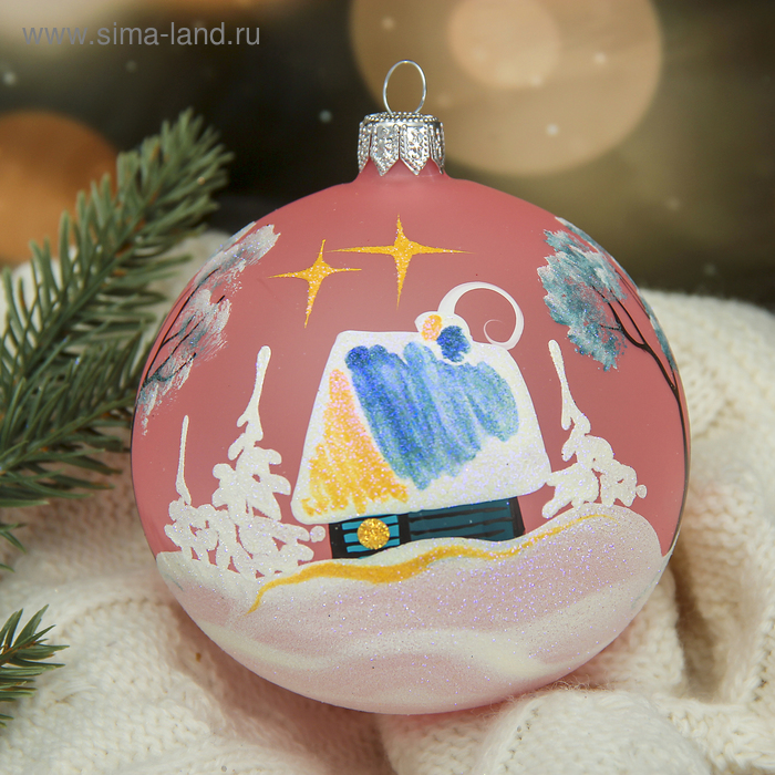 """Новогодний шар ручной работы """"Ночь"""" микс"""
